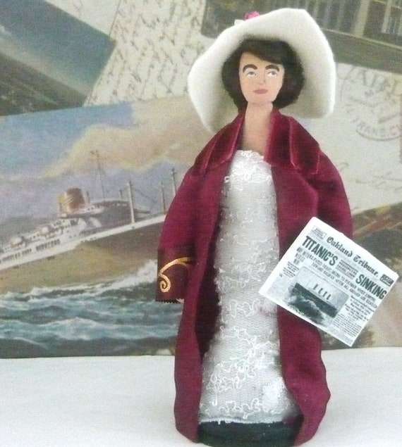 Titanic Unsinkable Molly Brown Doll Miniature Art Character