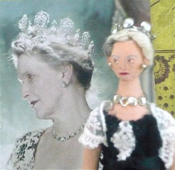 World War ll Lady Astor Doll Miniature by Uneek Doll Designs