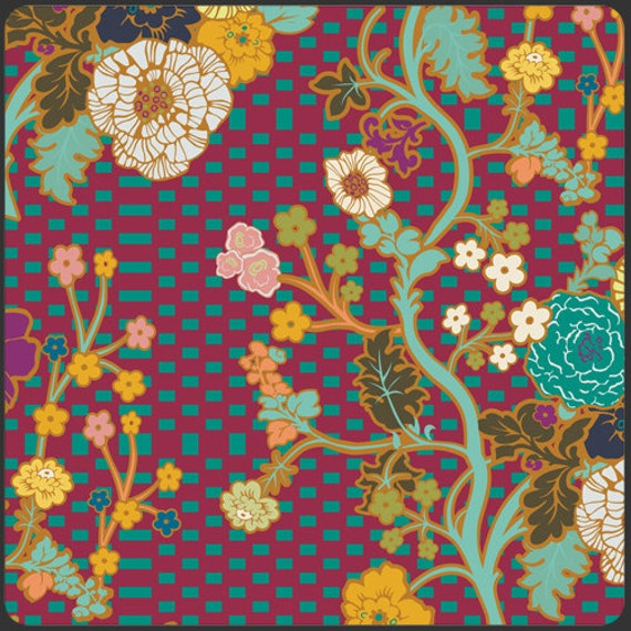 Art Gallery Indie Marqueterie in Ginger Cotton Quilting Fabric 1 Yard