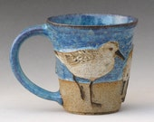 Bird & Beach Extra Large Mug--with 3 Sanderlings