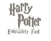 INSTANT Download - Harry Potter inspired digital embroidery font alphabet