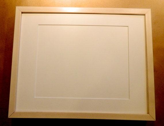 11 x 14 Frame Natural Maple 8 x 10 Mat