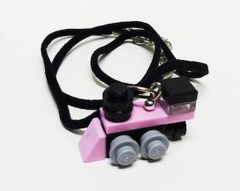 Pink Mini Train Engine Necklace