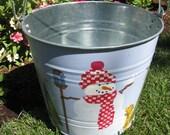 Snowman Bucket