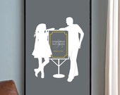 Personalized Wedding Gift - Bride and Groom Silhouette, Proposal, Anniversary Gift, Bridal Shower Gift