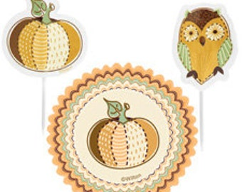 Autumn Cupcake Liners and Toothpicks Thanksgiving by Wilton