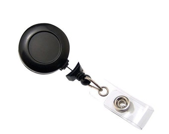 Retractable Black Badge Reel ID Badges (10)