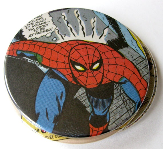 Comic Book Coasters // Spider-Man // Recycled Vintage Comic // Set of 6