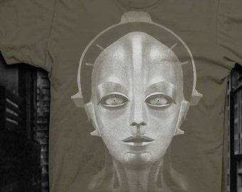 Metropolis Robot Shirt Mens Silent movie tshirt Maria Robot t shirt