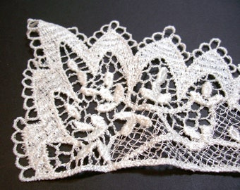 Ivory Venice Lace Applique Collar Set of 2 Pieces, Ivory Lace Collar