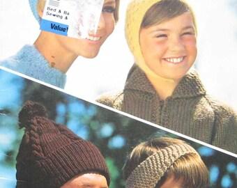 Beehive Patons Winter Hats Knitting Pattern Book