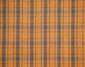 Homespun Fabric Brown And Black Plaid 1 Yard