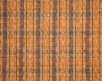 Cotton Fabric | Homespun Fabric | Quilt Fabric | Apparel Fabric | Counrty Fabric | Brown Plaid Fabric | 1 Yard