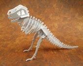 Build a 3D T-Rex Puzzle in white plastic