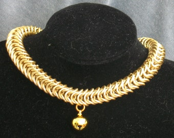 Gold Kitty Bell Necklace