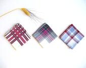 Vintage Mens Autumn Handkerchiefs Plaid