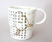 porcelain cup with translucent bottom