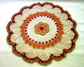 Victorian Garden Centerpiece Crochet Thread Art Doily