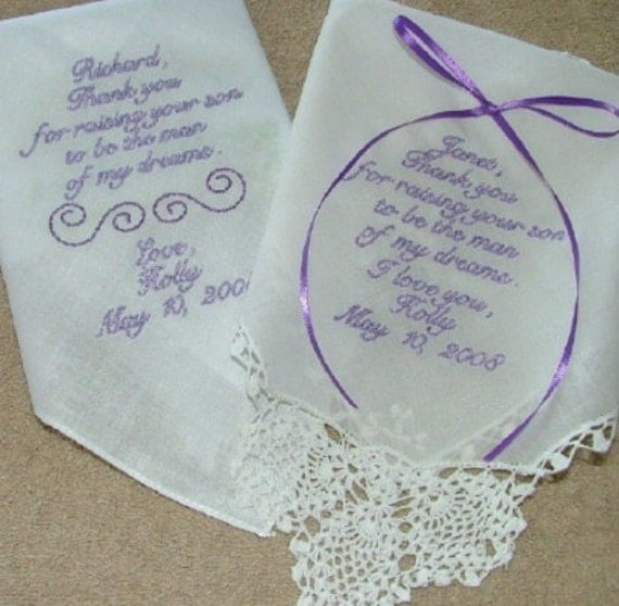 Custom Embroidered Wedding Hankies By SmoothStitchesDesign On Etsy