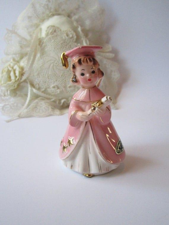 Vintage Josef Originals Pink Girl Graduate Figurine
