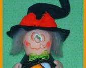 Hand Painted Halloween Witch Gourd Candy Corn Basket Stars fall trick treat hp prim chick teamhaha, hafair ofg SWEETZ