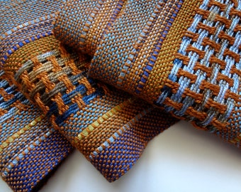 handwoven autumn curry symphony scarf