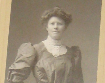 Vintage Antique Professional Martin Photo of a Beautiful Young Woman from Grand Rapids, Michigan