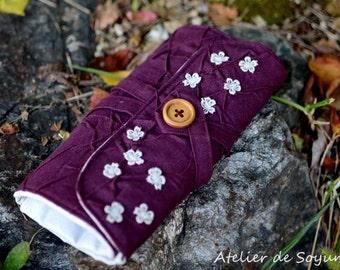 needle holder needle case knitting needle case interchangeable knitting needle case in eggplant