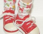 Short Flower Socks For Blythe...One Pair Per Listing...