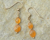 Top quality faceted carnelian dangle earrings