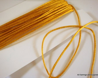 BOGO - 15ft Gold Satin Cord 1mm Bugtail - 5 yds - STR9066CD-GD15 - Buy 1, Get 1 Free, No coupon Required
