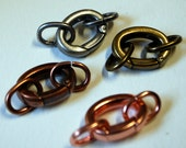 Qty 3 Oversized  Clasp with 2 Oval Jumprings  - FREE SHIPPING USA