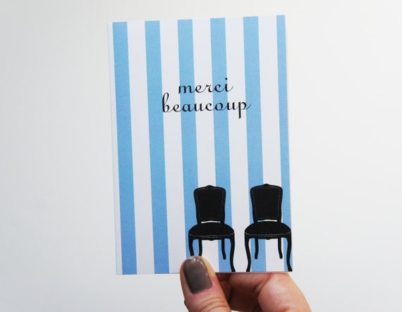 SALE Merci Beaucoup Note Cards