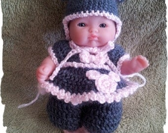 Crochet Pattern Mouse Outfit for 5 Inch Berenguer