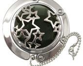 Foldable Purse Hook - Caged Dark Starry Night - Wedding - Bridesmaid Gifts