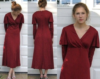 Dress from the 70s / Garnet Red Dress