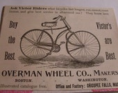Vintage Notecards - Ads, Bicycles
