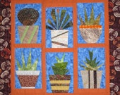 PDF Pattern CACTI and FRIENDS Original Quilt Pattern from Quilts by Elena Paper Piecing with Full Size Templates