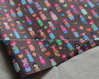 3017 - Girl Polka Dot Waterproof Fabric - 58 Inch (Width) x 1/2 Yard (Length)