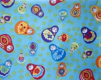 3049 - Matryoshka Russian Nesting Dolls Waterproof Fabric - 58 Inch (Width) x 1/2 Yard (Length)