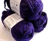 Red Heart Boutique Sashay yarn, PURPLE,  ruffling scarf yarn