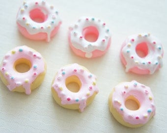 6 pcs Pink Doughnut Cabochon (22mm23mm) CD371