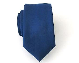 Skinny Tie - Dark Blue Skinny Necktie