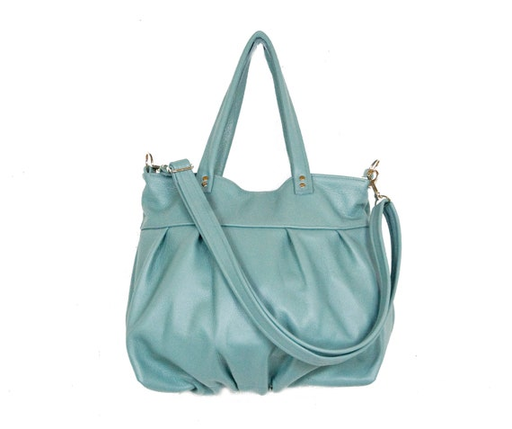 Mini Ruche Bag in Vintage Mint Leather - LAST ONE - Ready to Ship