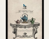 Alice's Mad Tea Party Wall Art Print Alice In Wonderland