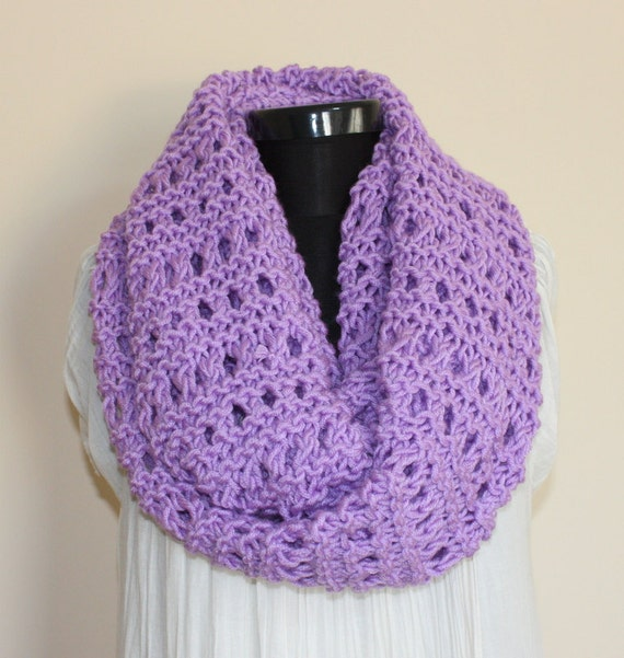 Lilac  Chunky Large Loop Scarf -Ready to Ship
