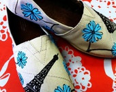 """Hand-painted TOMS -""""A Day in Paris"""""""