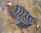 Guinea Fowl Blank Greeting Card - geminiriverrocks