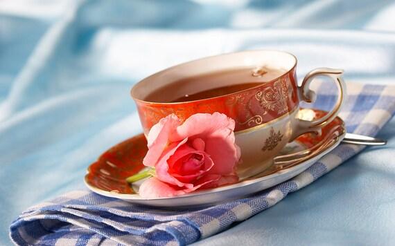 Tea Teabags Rose green 50 teabags Hand Blended Floral