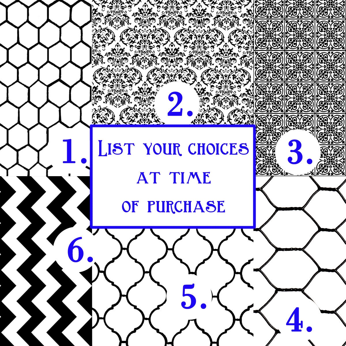 Background Texture Rubber Stamp - 6 choices - Moroccan Tile, Chevron ...
